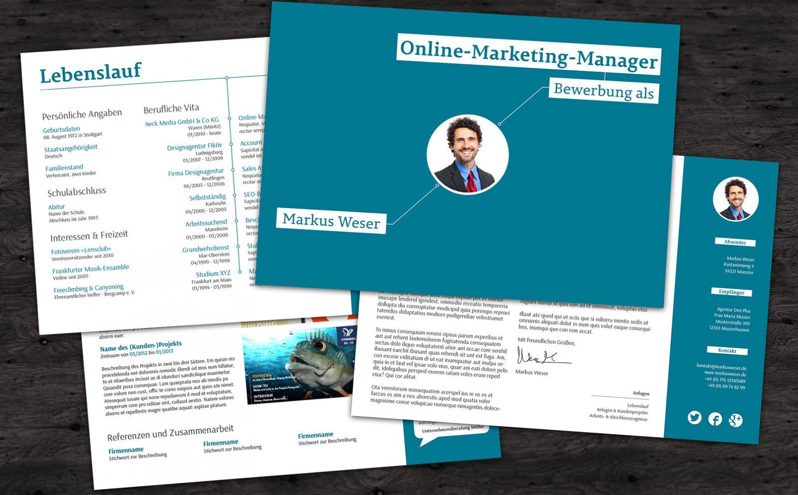 Bewerbungsvorlagen - Online-Marketing-Manager
